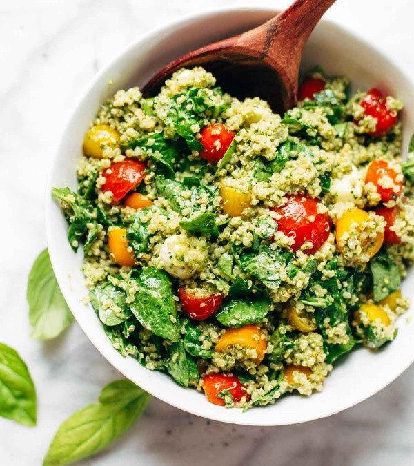 A healthy quinoa summer salad
